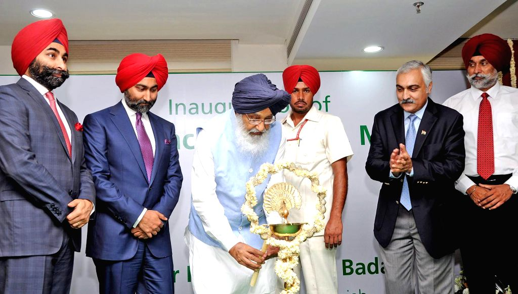 Punjab Chief Minister Parkash Singh Badal during inauguration of a cancer institute in Mohali, Punjab on July 25, 2014. - Parkash Singh Badal