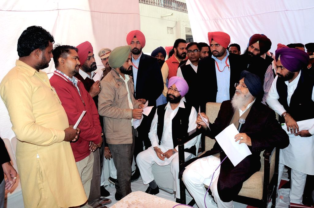 Punjab Chief Minister Parkash Singh Badal during his Sangat Darshan programme Muktsar, Punjab on Nov 23, 2016. - Parkash Singh Badal