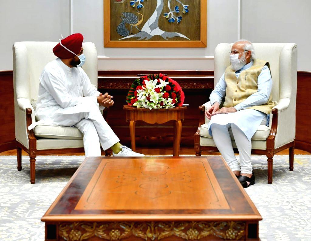 Punjab CM meet PM Modi