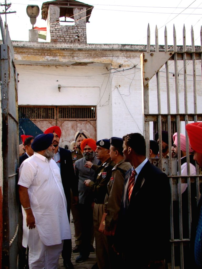 Punjab Deputy Chief Minister Sukhbir Singh Badal visits  the maximum security Nabha jail in Punjab that was attacked by armed men on Nov 27, 2016. The attackers escaped with  two terrorists, ... - Sukhbir Singh Badal and Harminder Singh Mintoo