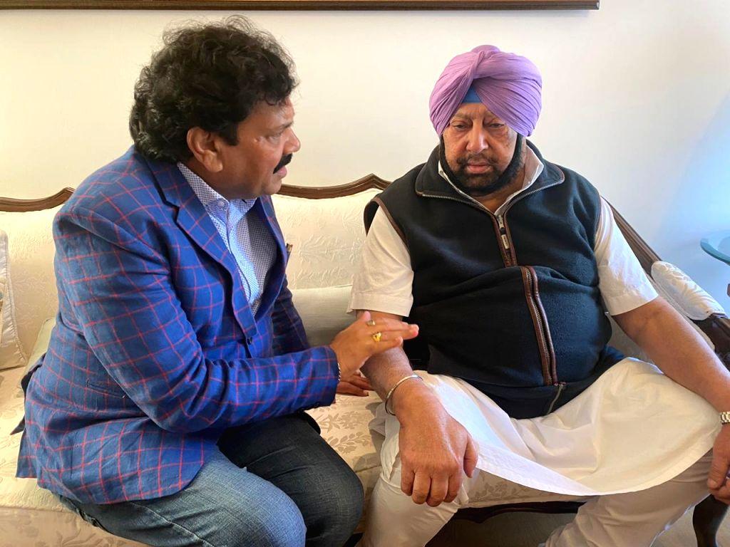 Punjab State Warehousing Corporation (PSWC) Chairman Raj Kumar Verka calls on Punjab Chief Minister Captain Amarinder Singh. - Captain Amarinder Singh and Kumar Verka