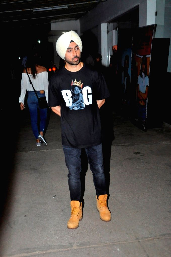 Punjabi actor Diljit Dosanjh during the screening of his film Super Singh, in Mumbai on June 16, 2017. - Diljit Dosanjh and Singh