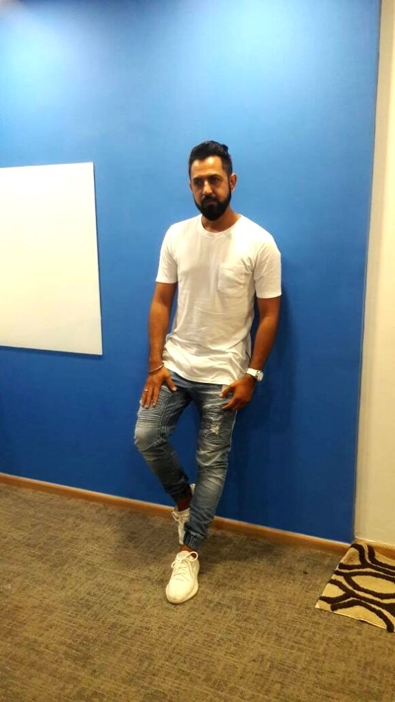 Punjabi pop singer Gippy Grewal during the media interaction of film Lucknow Central in Mumbai on June 16, 2017.