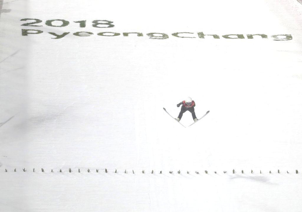 PYEONGCHANG, Feb. 12, 2018 - Sara Takanashi from Japan competes during the ladies' normal hill individual event of ski jumping at 2018 PyeongChang Winter Olympic Games at Alpensia Ski Jumping Centre, ...