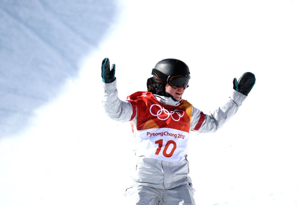 PYEONGCHANG, Feb. 13, 2018 - Arielle Gold of the U.S. competes during ladies' halfpipe finals of snowboard at the 2018 PyeongChang Winter Olympic Games at Phoenix Snow Park in PyeongChang, South ...
