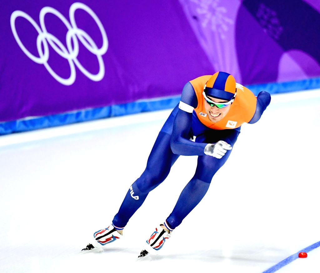 PYEONGCHANG, Feb. 13, 2018 - Patrick Roest from the Netherlands competes during mens' 1500m event of speed skating at 2018 PyeongChang Winter Olympic Games at Gangneung Oval, Feb. 13, 2018. Patrick ...