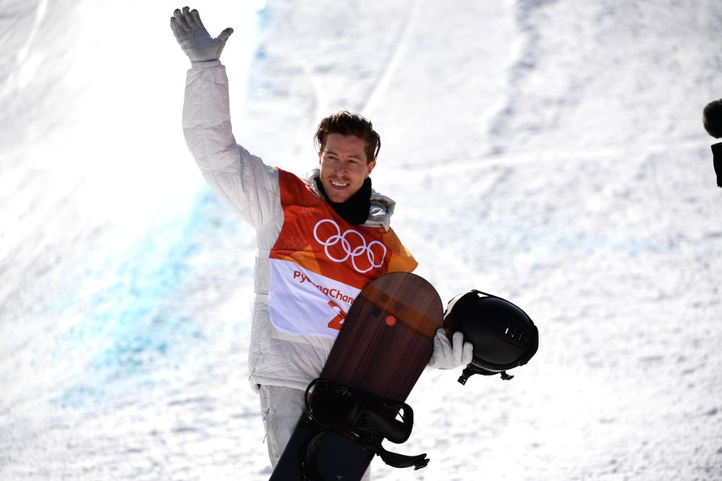 PYEONGCHANG, Feb. 13, 2018 - Shaun White of the U.S. reacts during men's halfpipe qualification of snowboard at the 2018 PyeongChang Winter Olympic Games at Phoenix Snow Park in PyeongChang, South ...