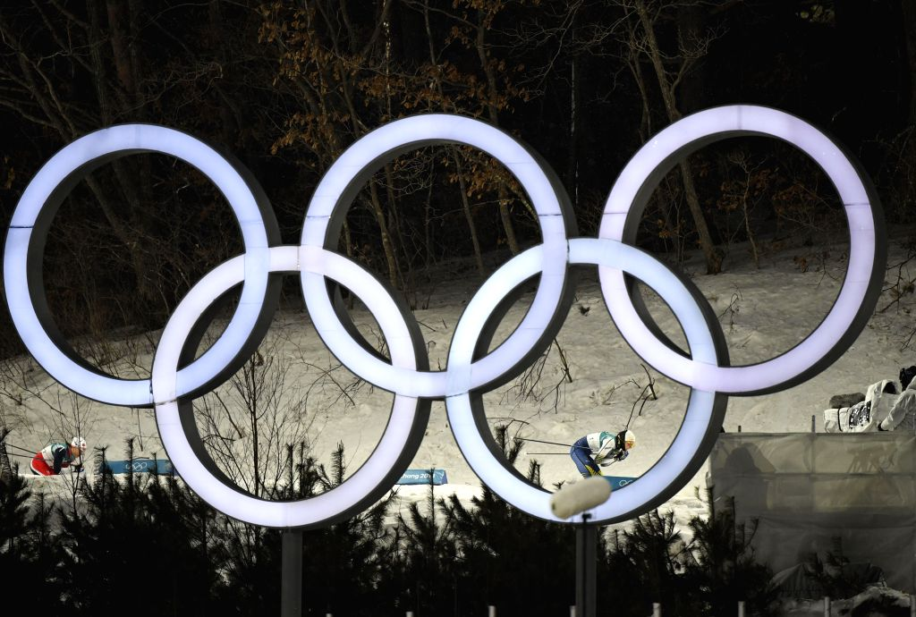 PYEONGCHANG, Feb. 13, 2018 - Stina Nilsson (R) from Sweden competes during the ladie's sprint classic final of cross-country skiing at the Pyeongchang 2018 Winter Olympic Games at Alpensia ...