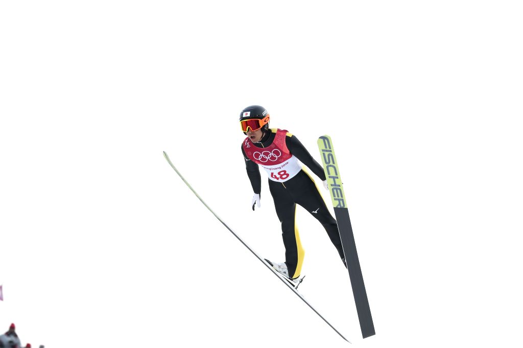 PYEONGCHANG, Feb. 14, 2018 - Watabe Akito of Japan competes during individual gundersen NH/10KM event of Nordic Combined at 2018 PyeongChang Winter Olympic Games at the Alpensia Ski Jump centre, ...
