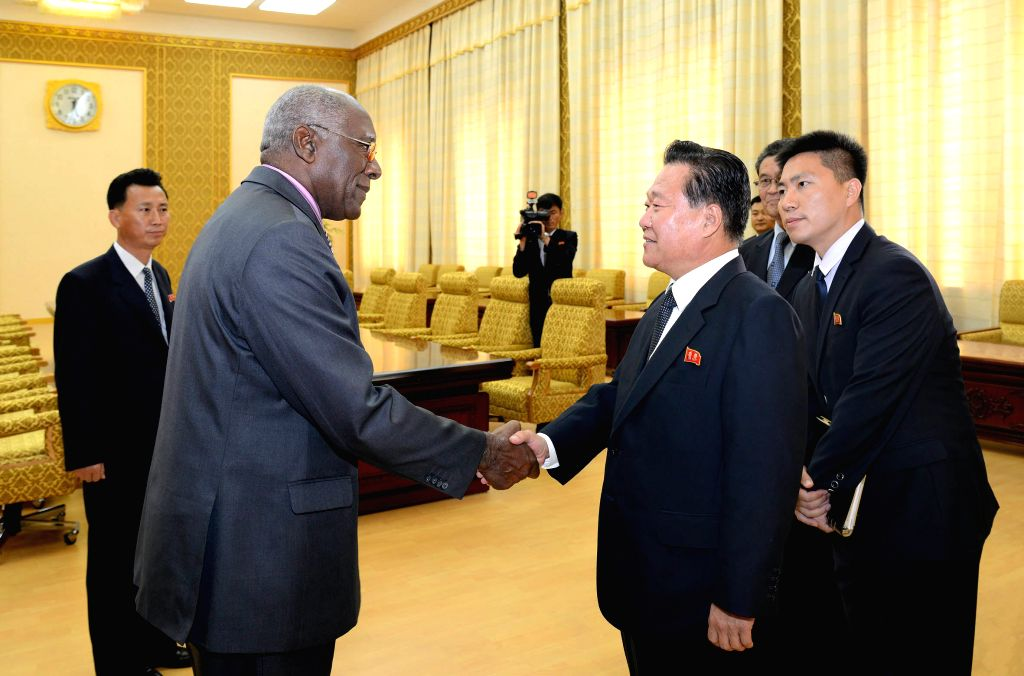 PYONGYANG, June 29, 2016 - Photo provided by Korean Central News Agency (KCNA) on June 29, 2016 shows Choe Ryong Hae, member of the Presidium of the Political Bureau and vice-chairman of the Central ...