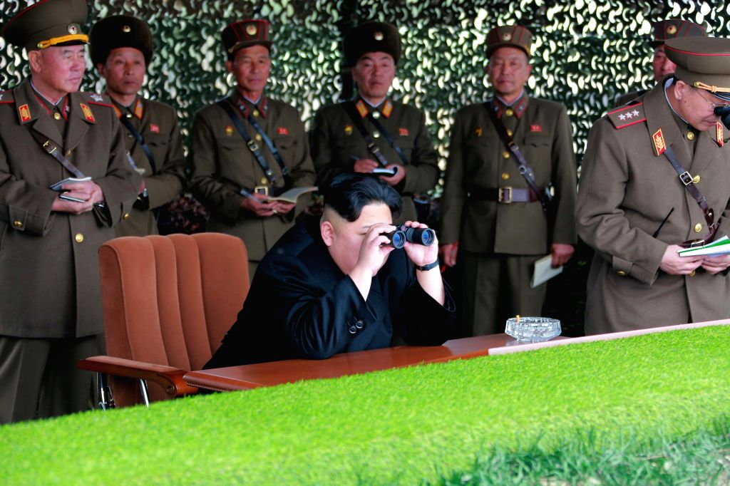 PYONGYANG, Nov. 19, 2016 - Photo provided by Korean Central News Agency (KCNA) on Nov. 19, 2016 shows top leader of the Democratic People's Republic of Korea (DPRK) Kim Jong Un recently guiding a ...