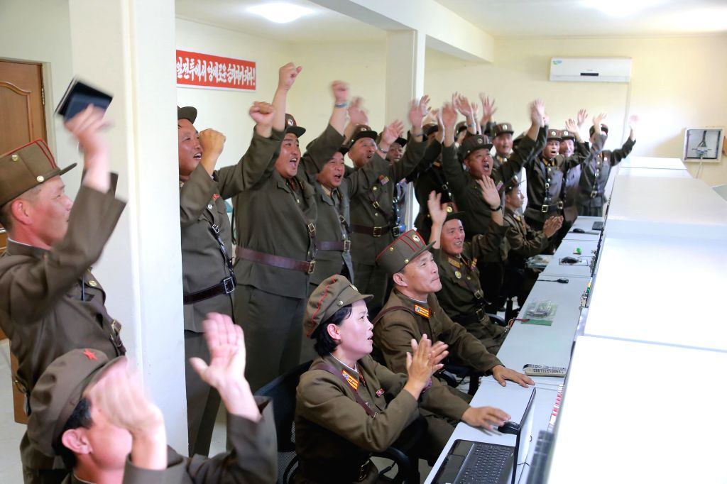 PYONGYANG, Sept. 20, 2016 - Photo provided by Korean Central News Agency (KCNA) on Sept. 20, 2016 shows top leader of the Democratic People's Republic of Korea (DPRK) Kim Jong Un recently guiding a ...