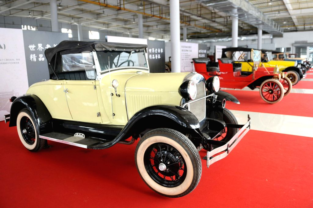 Classic cars are displayed during a vintage car show in Qinzhou International Automobile City in Qinzhou, south China's Guangxi Zhuang Autonomous Region, April 17,