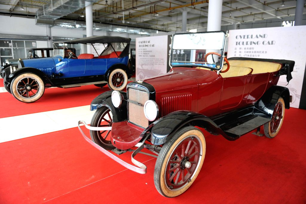 Two Overland classic cars are displayed during a vintage car show in Qinzhou International Automobile City in Qinzhou, south China's Guangxi Zhuang Autonomous ...