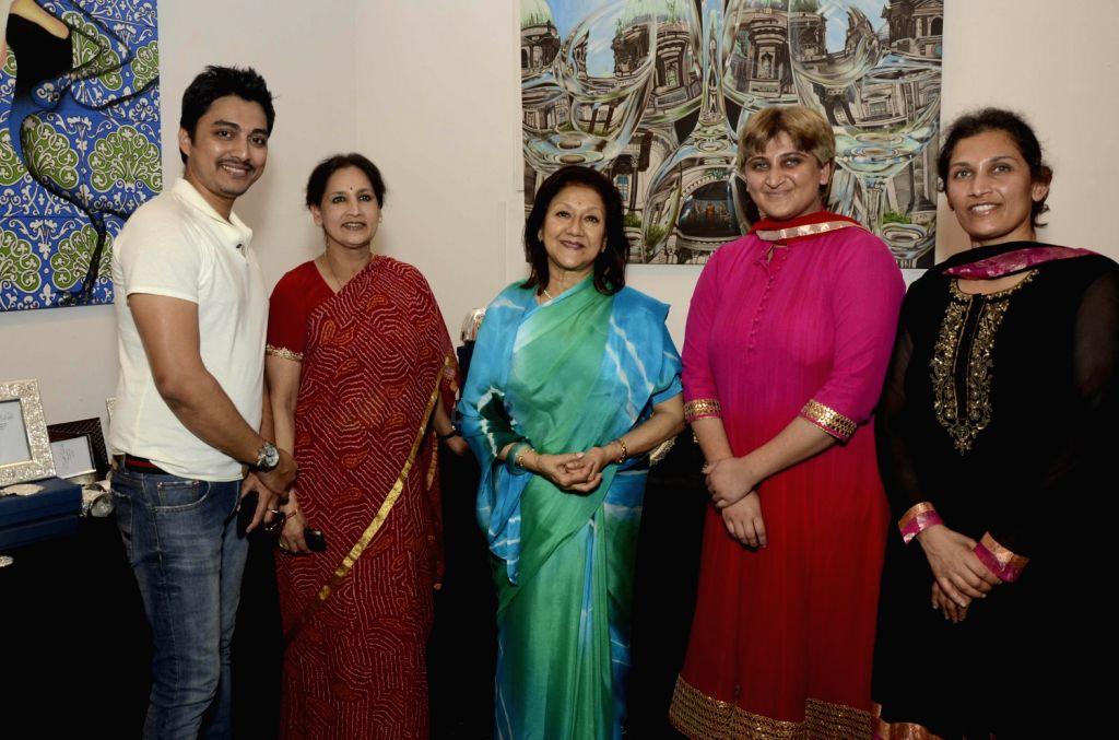 Queen of Jaipur at fine silver exhibition at Hacienda art gallery at Kalaghoda.