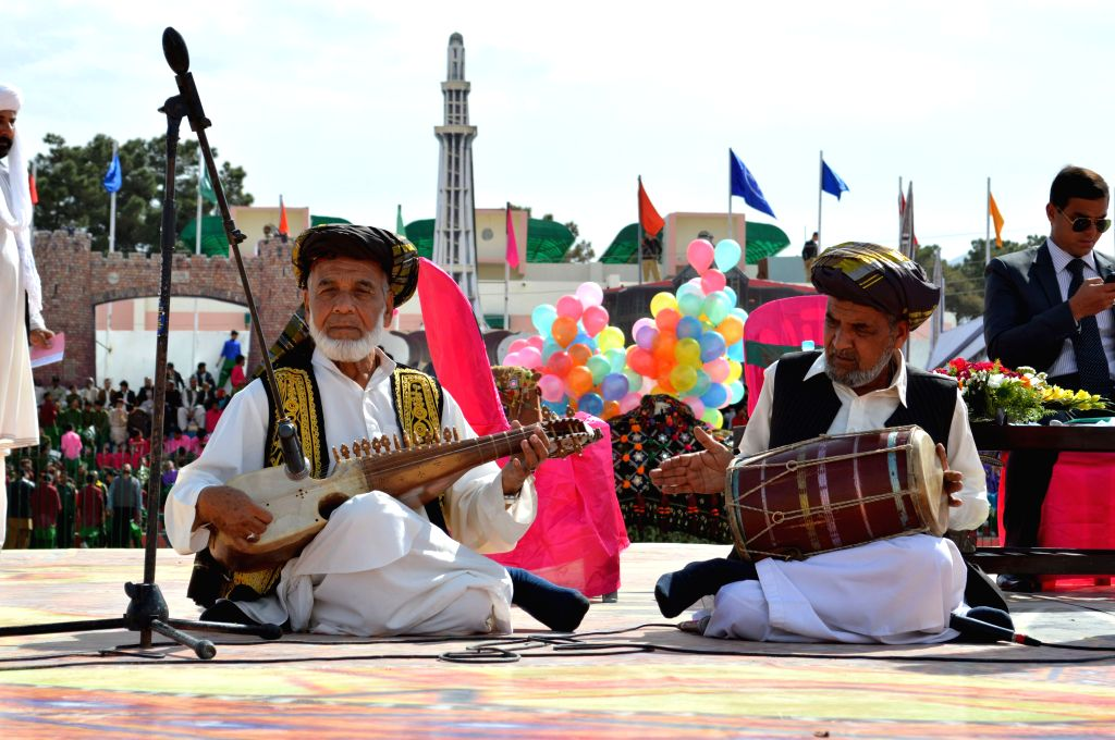 Pakistani musicians perform during a rehearsal for the upcoming Pakistan Day celebrations in southwest Pakistan's Quetta on March 22, 2015. On March 23, 1940, the ...