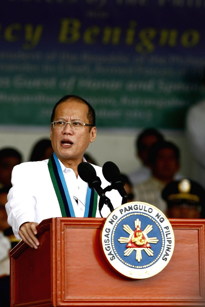 Philippine President Benigno S. Aquino III speaks during the celebration of the 78th anniversary of AFP at Camp Aguinaldo in Quezon City, the Philippines, .