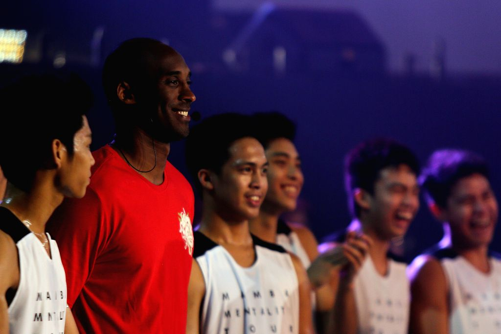 QUEZON CITY, June 25, 2016 - Basketball icon Kobe Bryant attends a basketball camp for the Mamba Mentality Tour in Quezon City, the Philippines, June 25, 2016. Kobe Bryant is in the Philippines for a ...