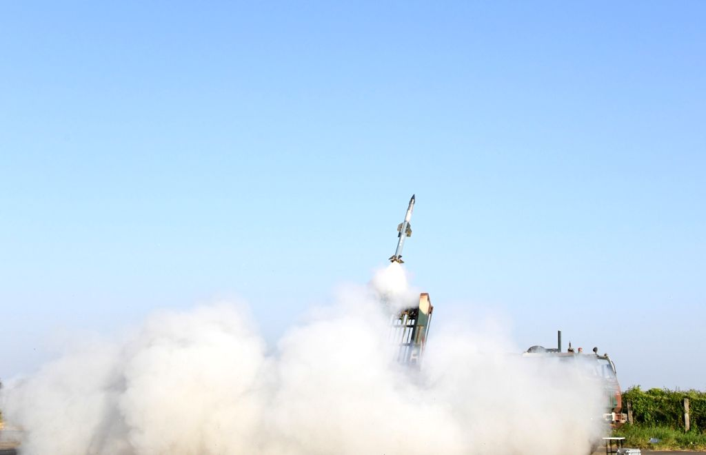 Quick Reaction Surface to Air Missile (QRSAM) system successfully launched from Integrated Test Range, Chandipur off the Odisha coast, in New Delhi on Nov 13, 2020.