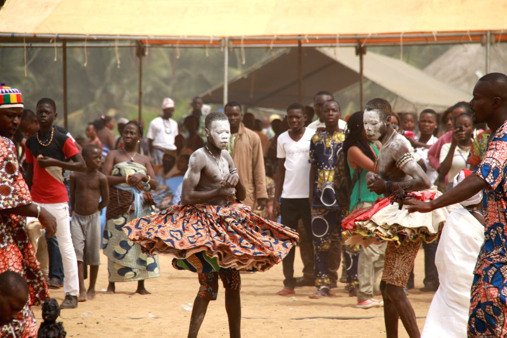 QUIDAH(BENIN), Jan. 11, 2015 Local residents participate in the annual Voodoo Festival in Quidah, Benin, Jan. 10, 2015. Having been instituted in 1994, this festival which is always ...
