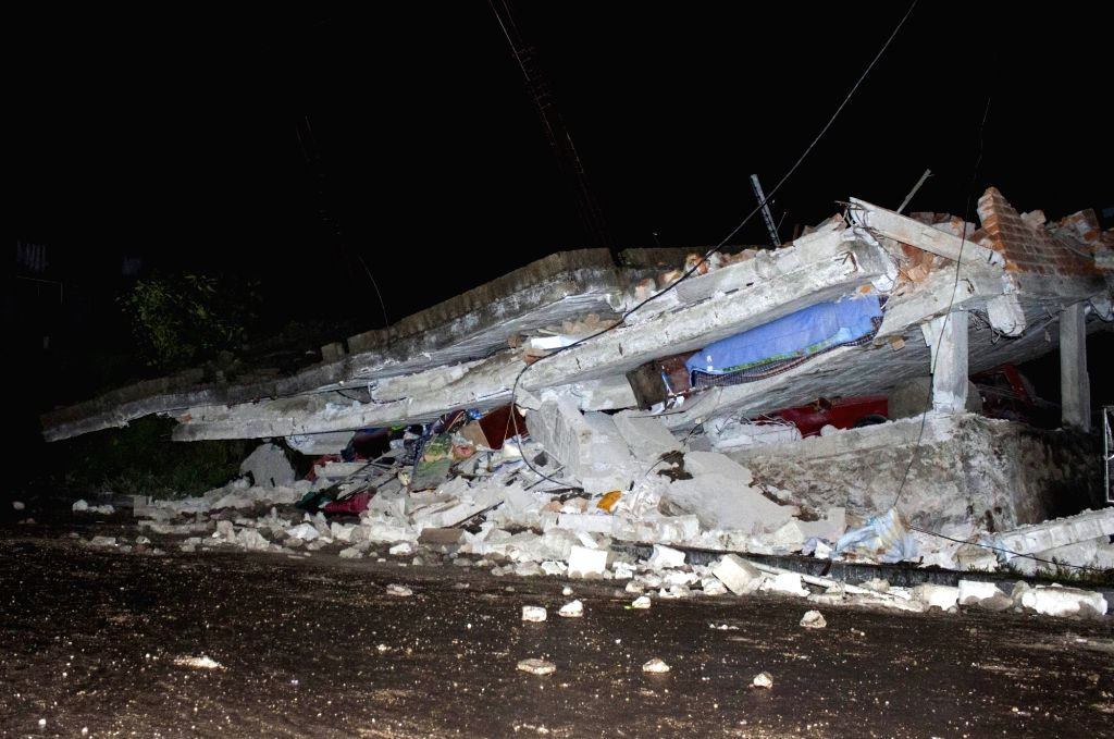 QUITO, April 16, 2017 - Debris of a house are seen after an earthquake in Quito, Ecuador, on April 16, 2016. The number of victims of the earthquake that struck off the coast of Ecuador on Saturday ...