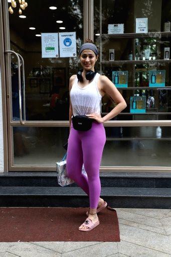 Raai Laxmi Spotted Outside Salon In Bandra on 04 october,2021.