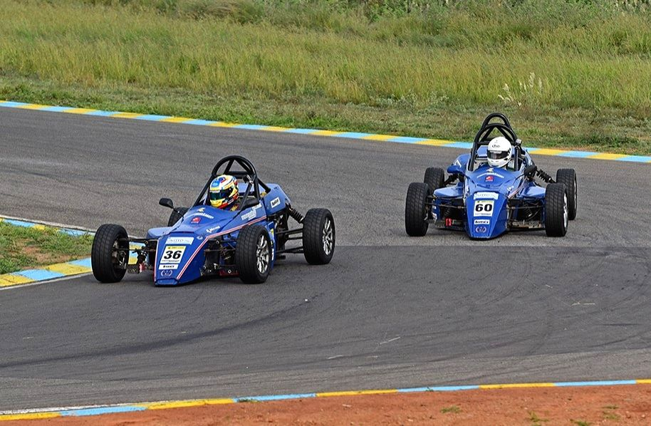 Racer Chirag Ghorpade (JK Tyre Novice Cup category) in action during Day 1 of the 22nd JK Tyre FMSCI National Racing Championship, Round 1 in Coimbatore, Tamil Nadu on July 27, 2019.
