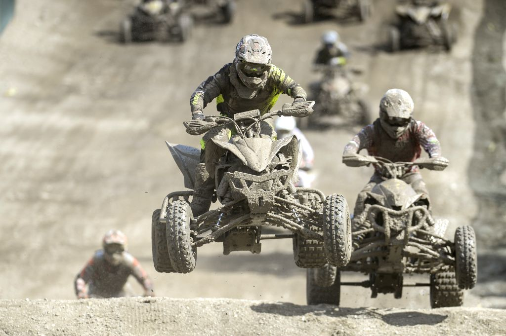 Racers compete in the ITP Quadcross European Championship 5th round, which was held at Kivioli  Motocross Track in North-Eastern Estonia, on Aug. 2, 2015. ...