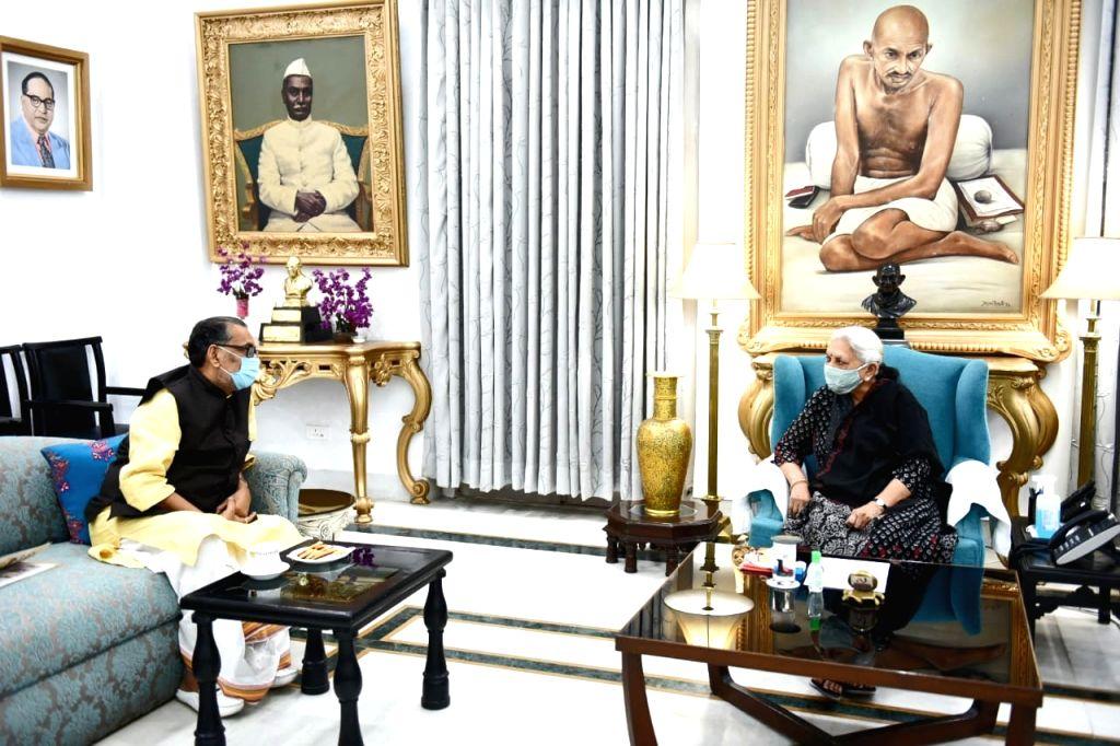 Radha Mohan Singh meets UP governor. - Radha Mohan Singh