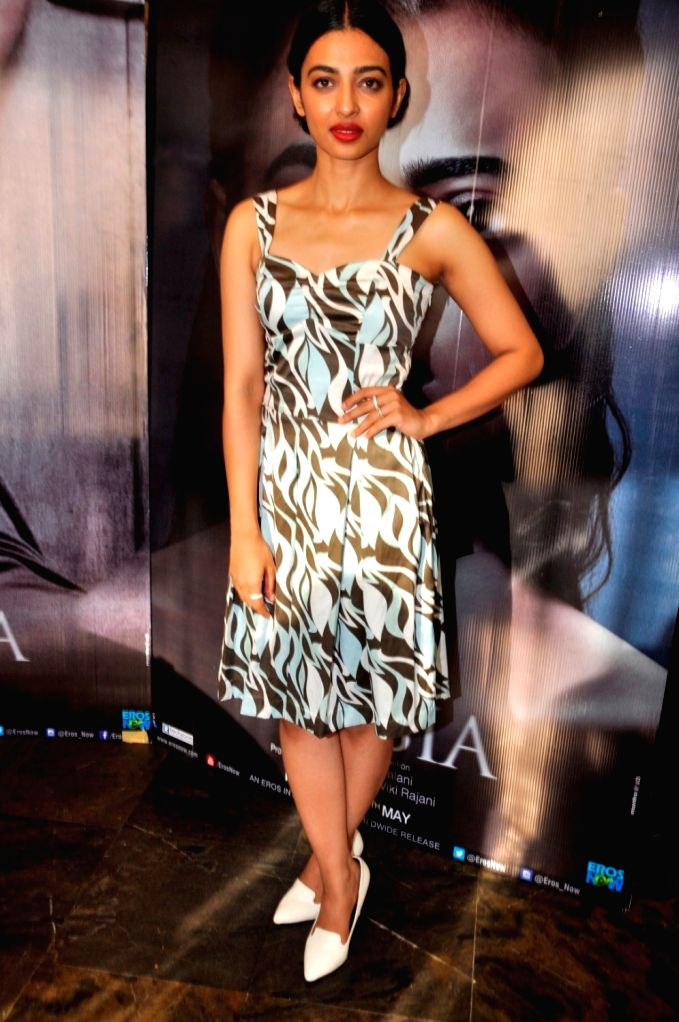 Radhika Apte during the media interaction of her upcoming film Phobia in Mumbai on May 25, 2016.