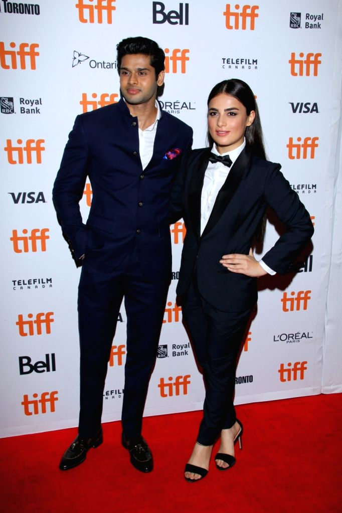 Radhika Madan with Abhimanyu Dassani at Toronto film festival.