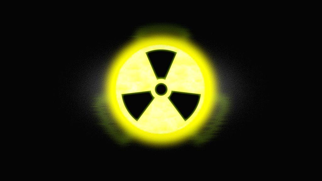 Radioactive symbol.