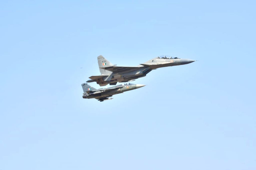 "Rafale fighter aircraft during ""Aero India 2019"" - air show at Yelahanka Air Force Station, in Bengaluru, on Feb 20, 2019."