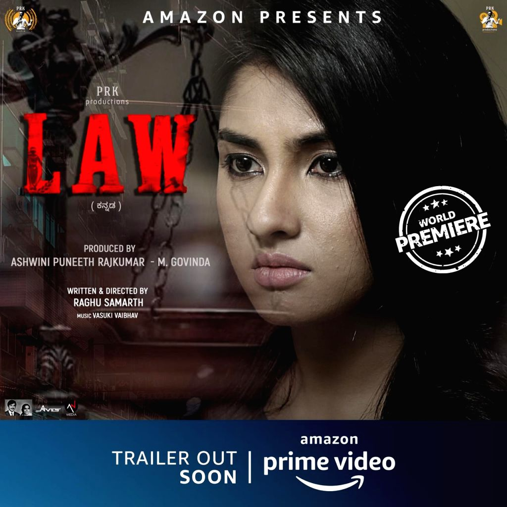 Ragini Chandran gives intense look in new poster of 'Law'.
