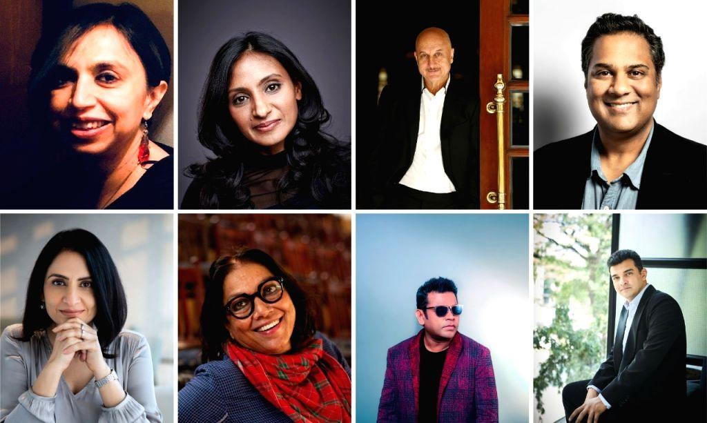 Rahman, Mira Nair, Anupam Kher in BAFTA Breakthrough India jury. - Anupam Kher