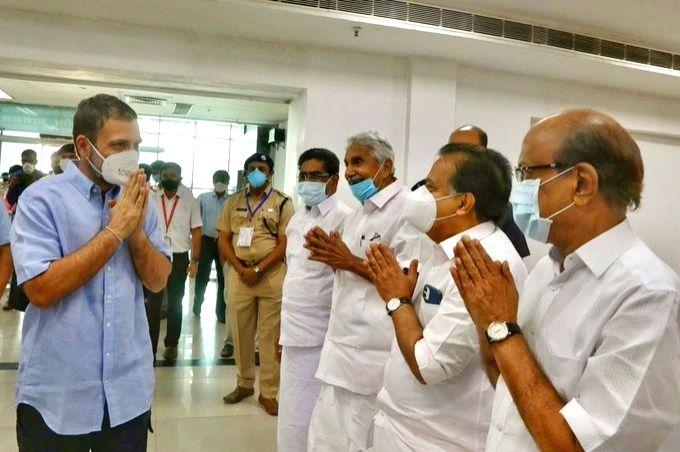 Rahul Gandhi begins Kerala visit, meets Cong and IUML leaders - Rahul Gandhi