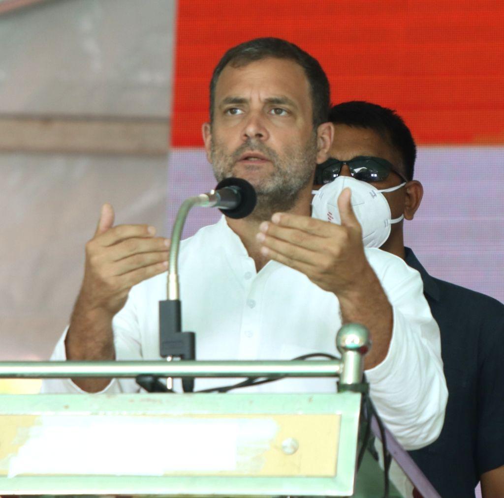 Rahul Gandhi extends Holi greetings to the nation. (Photo: R. Parthibhan/IANS) - Rahul Gandhi