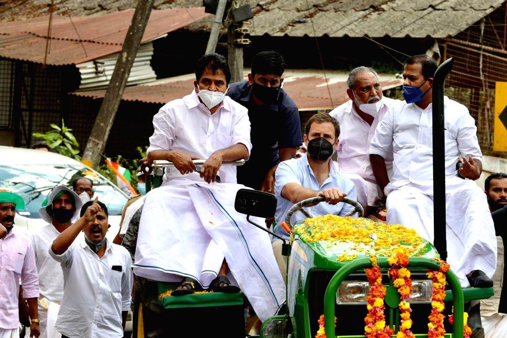 Rahul Gandhi tractor rally. - Rahul Gandhi