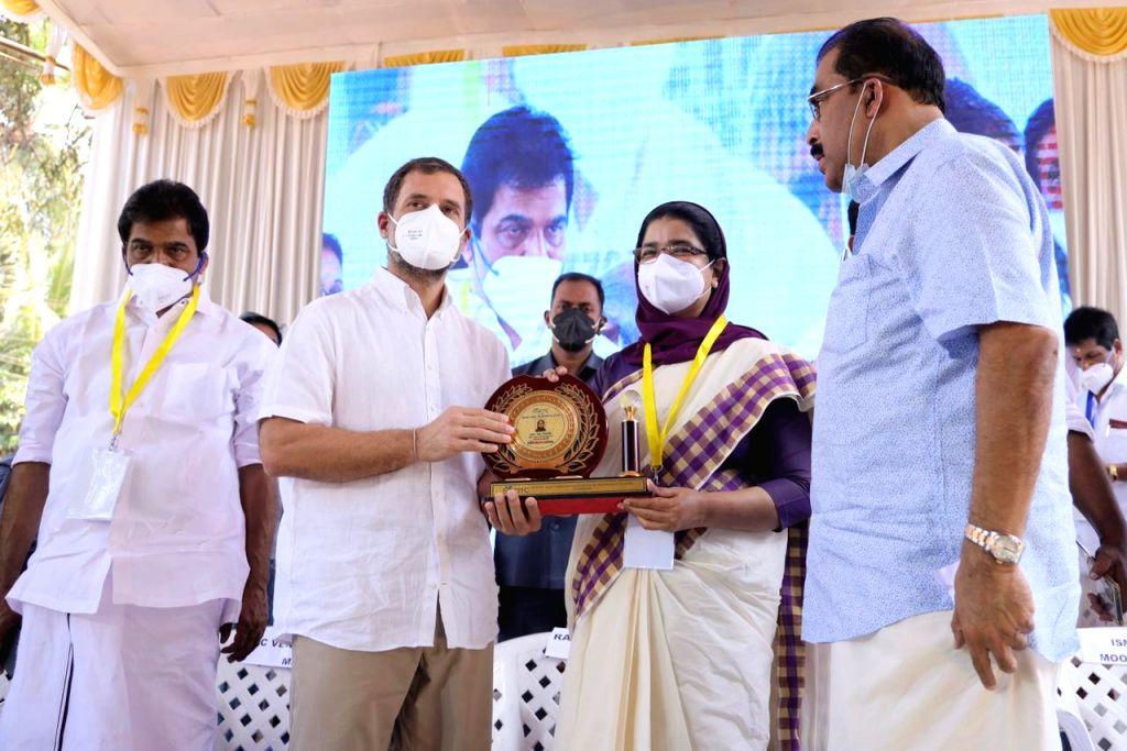 Rahul Gandhi visits Seethi Haji Memorial Cancer Detection and Treatment Center at Government Community Health Center, Edavana, Eranad, Malappuram. - Rahul Gandhi