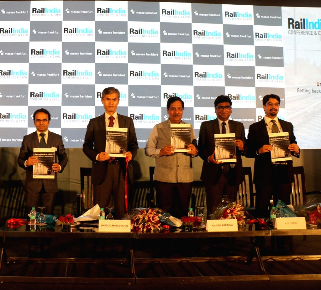 Railway Board Chairman V.K. Yadav at the inauguration of the two-day Rail India Conference in New Delhi, on Aug 29, 2019. - K. Yadav