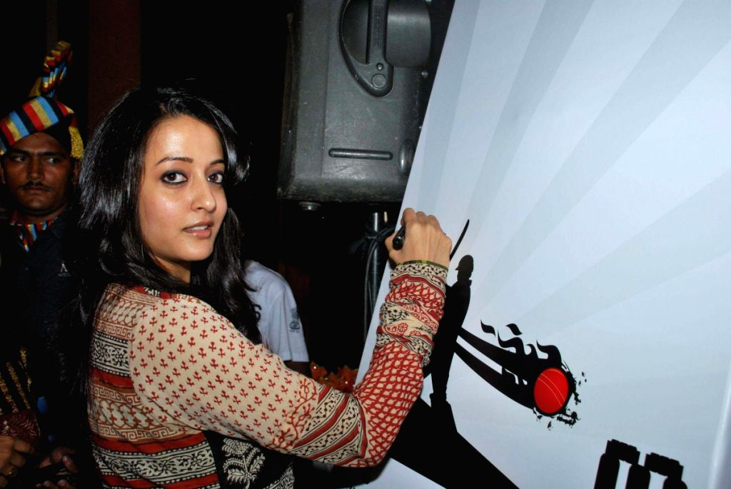 Raima Sen at CPAA's Cricket Match Press Meet at Hotel Taj Lands End, Mumbai.