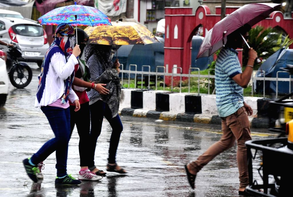 Rains lash Amritsar on July 6, 2017.