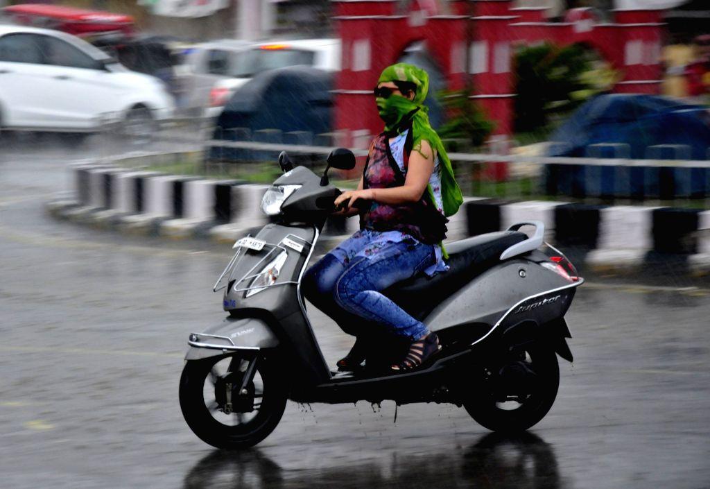 Rains lash Amritsar on July 6, 2017.