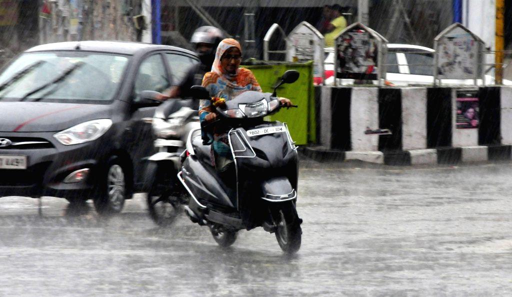 Rains lash Amritsar on June 19, 2017.