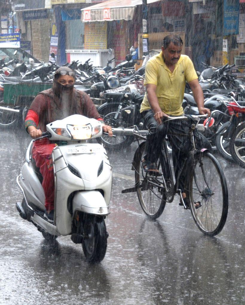 Rains lash Amritsar on Sep 28, 2019.