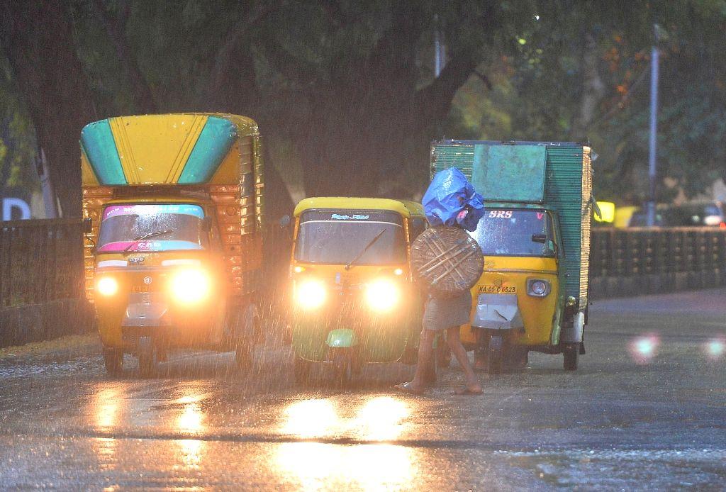 Rains lash Bengaluru on April 8, 2019.