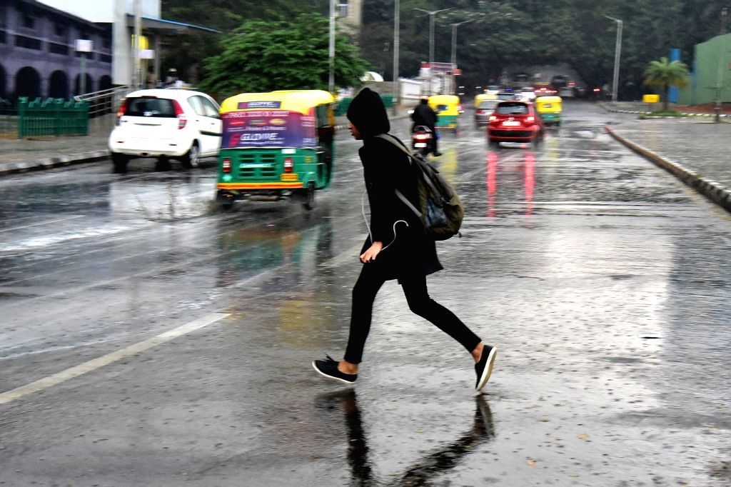 Rains lash Bengaluru on Feb 9, 2019.