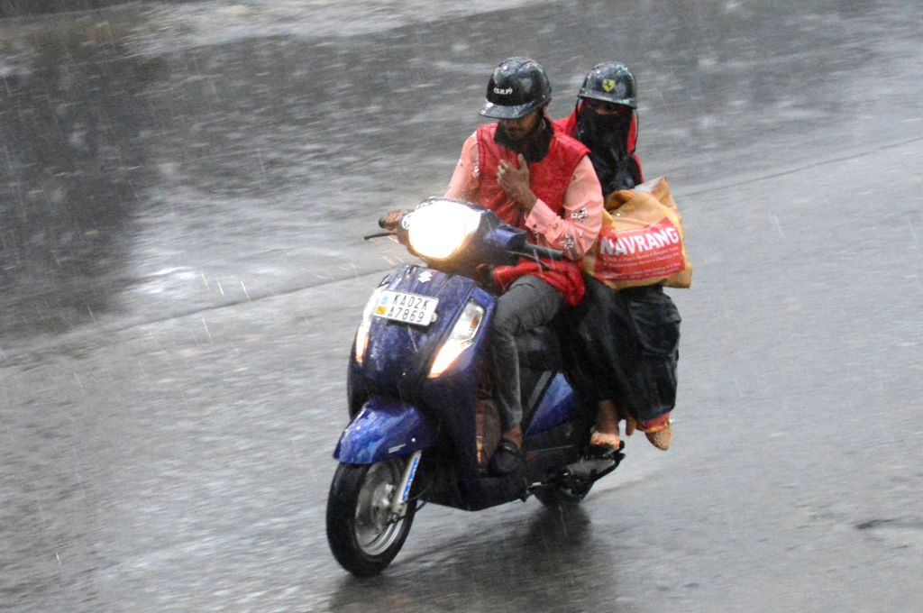 Rains lash Bengaluru on Jan 25, 2020.