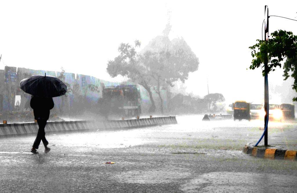 Rains lash Bengaluru on May 14, 2017.