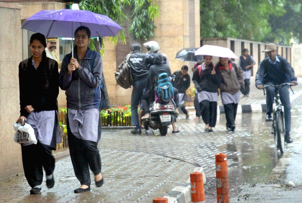 Rains lash Bengaluru on Nov 16, 2015.